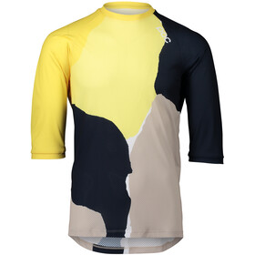 POC MTB Pure 3/4 Jersey Men, color splashes multi sulfur yellow